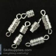 Screw clasp FS15 ,12 pcs  silver