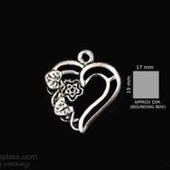 Silver Finish Heartflower