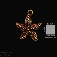 Antique gold finish Star fish