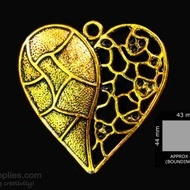 Antique gold finish Heart 1