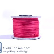 Cotton cord 0.5mm fuschia,10 mts