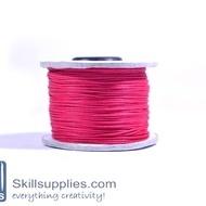 Cotton cord 0.5mm fuschia,10 mts