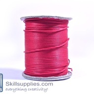 Cotton cord 1mm fuschia,10 mts