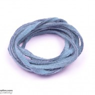 LeatherCord Suede CeruleanBlue