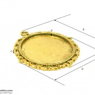 Pendant Tray28 Gold