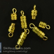 Screw clasp FS16 ,12 pcs  gold