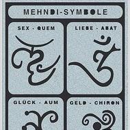 Tattoo Stencil Mehndi Symbols
