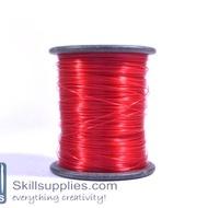 Nylon cord 0.3mm red, 100 mts