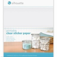 Printable clear stickerpaper