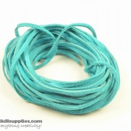 LeatherCord Suede Turquoise