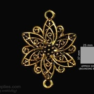 Antique gold finish flower