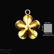 Antique gold finish Small flower
