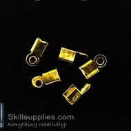 End crimps 3 mm  EN11 ,25 pcs   gold