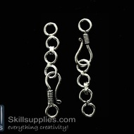 Hook chain 4 EN20 ,6 pcs  silver