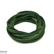 LeatherCord Suede DarkGreen