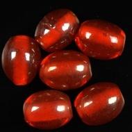 Oval glass beads albester 1