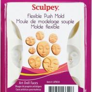 PolymerClay Mold ArtDoll Faces