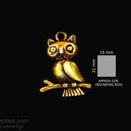 Antique gold finish Owl 3