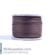 Cotton cord 0.5mm brown ,10 mts