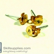 Ear post disc small ER6 ,10sets  gold