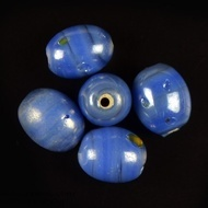 Oval glass beads lustre 4