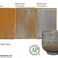 Pottery High Fire Glaze PC-34 Light Sepia