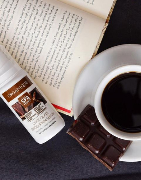 Ser corporal anticelulitic si bronzant cu ciocolata, Organique, 200 ml