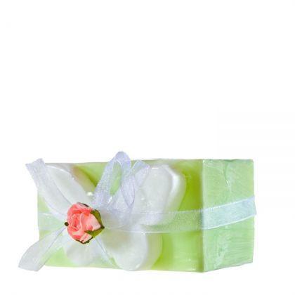 Sapun decorativ fluture verde si glicerina, Organique, 100 gr
