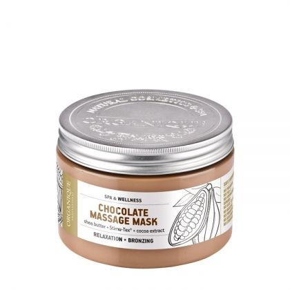 Masca pentru masaj, bronzanta, cu ciocolata, Organique, 450 ml