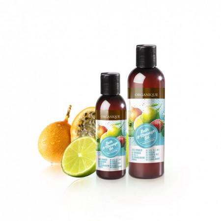 Ulei pentru masaj, cocktail de fructe, Organique, 500 ml