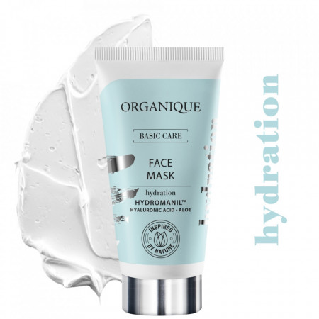 Masca faciala hidratanta cu acid hialuronic, organique, 50 ml