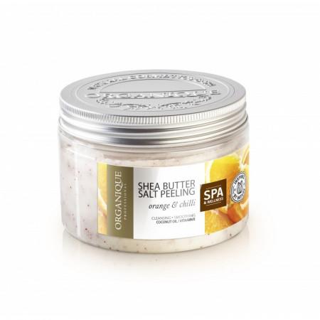 Exfoliant corporal anticelulitic cu portocale, chilli si shea Organique 450 ml