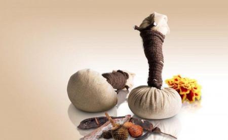 Comprese cu plante si uleiuri esentiale pentru masaj, Morocco, set 2 bucati,  Organique