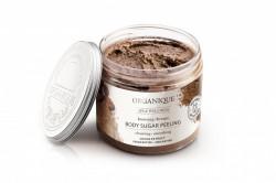 Exfoliant bronzant cu ciocolata si cristale de zahar, Organique, 200 ml