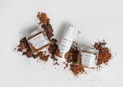 Exfoliant bronzant cu zahar si ciocolata, Organique, 200 ml