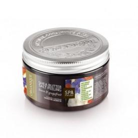 Exfoliant corp cu unt de shea, grepfruit si albastrele, Organique, 450 ml