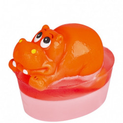 Sapun roz cu jucarie hipopotam, Organique, 80 g