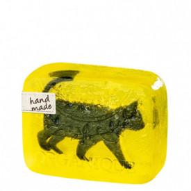 Sapun decorativ Pisica neagra si glicerina, Organique, 100 gr