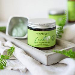 Exfoliant corp energizant, cu ceai matcha si ceai verde, Feel Up, Organique, 200 ml