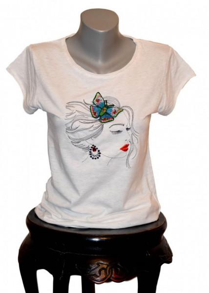 Women T-shirt, Butterfly Girl