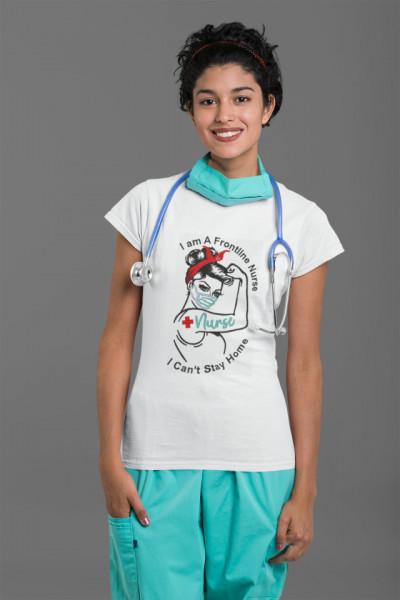 Frontline Nurse Hero Covid-19 Fashion T-shirt
