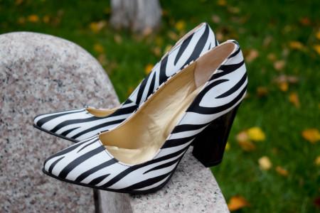 pantofi dama toc 9, model zebrat