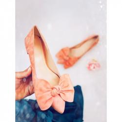peach flat ballerinas