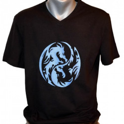 Men T-shirt, YingYang Dragons