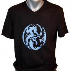 Men T-shirt, YingYang Dragons
