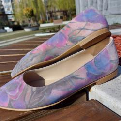 Velvet Printed Poppies