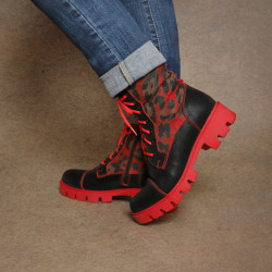 Red Leopard Boots