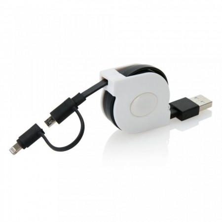 Cablu 2 In 1 Iphone+micro Usb