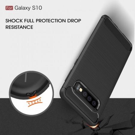 Husa silicon carbmat Samsung S10