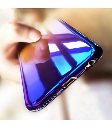 Husa baseus glaze ombre - blue - pentru iPhone 7